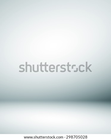 Abstract illustration background texture of beauty dark and light clear blue, cold gray, snowy white gradient flat wall and floor in empty spacious room winter interior - stock photo