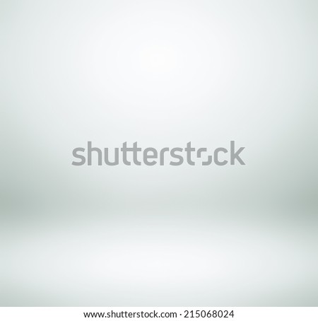 Abstract illustration background texture of light cold gray, snowy white and clear blue gradient wall, flat floor, wide ceiling and sides from metal in empty spacious room interior with mist and haze. - stock photo