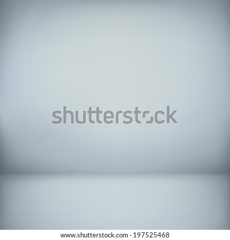 abstract illustration background texture of light gray and blue gradient wall, flat floor in empty room. - stock photo