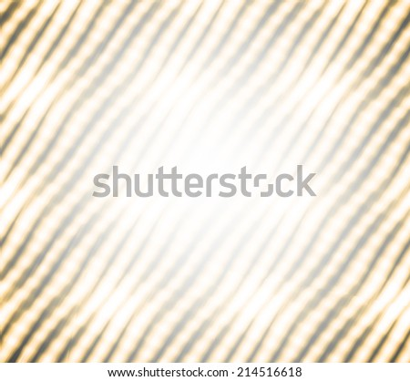Abstract illustration background texture of perspective view to beauty decoration modern frame from Christmas light colorful blur garlands with white black and golden yellow curve tilt lines on party - stock photo