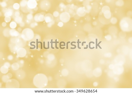 Abstract illustration bokeh light on golden background - stock photo