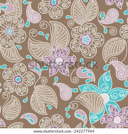 Abstract Illustration Floral Seamless Pattern