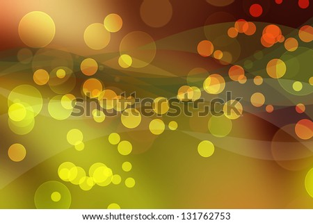Abstract illustration in shades of red, orange, green and yellow
