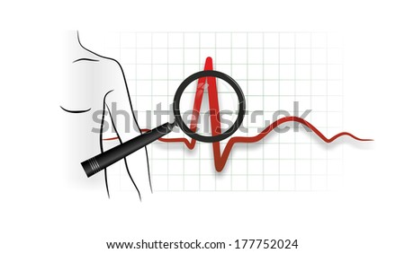 abstract illustration of a heartbeat from electrocardiograph
