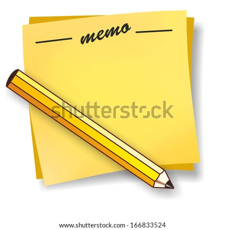 abstract illustration of a notepad with pencil
