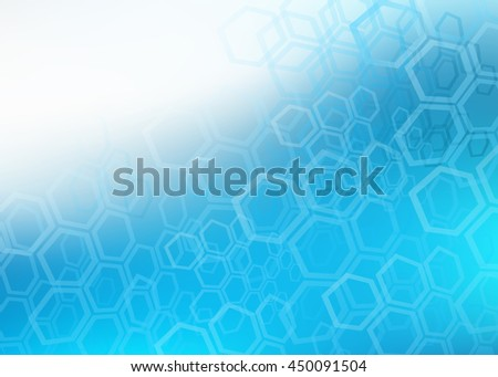 Abstract illustration of blue faded hexagonal design background perfect for Medical, Healthcare and Science and many other Businesses - stock photo