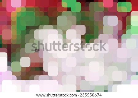 Abstract illustration of city lights as rounded squares overlapping for illusion of three dimensions with a gridlike pattern - stock photo