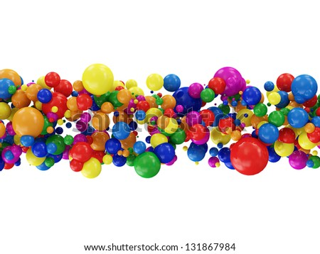 Abstract Illustration of Colorful Balls isolated on white background - stock photo