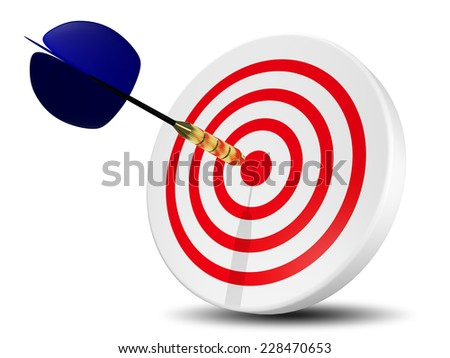 abstract illustration of darts at a circular target