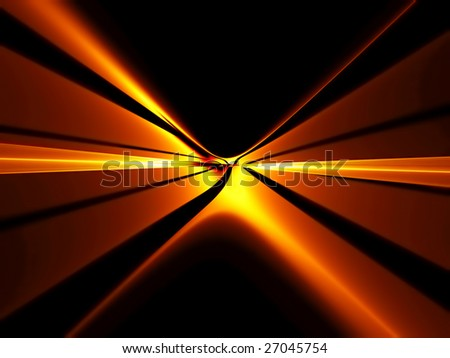 Abstract illustration of fiery red horizon  stretching off to infinity - stock photo