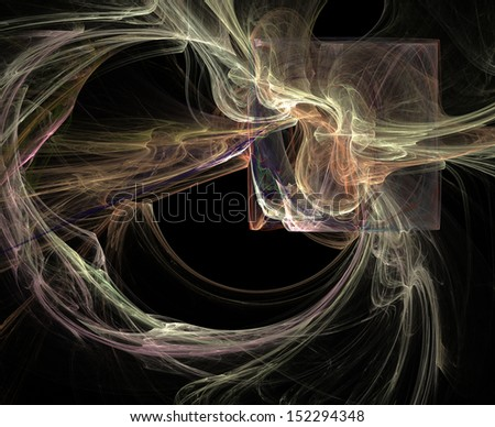Abstract illustration of fractal with high detail - stock photo