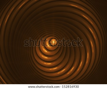 Abstract illustration of gold fractal with high detail - stock photo