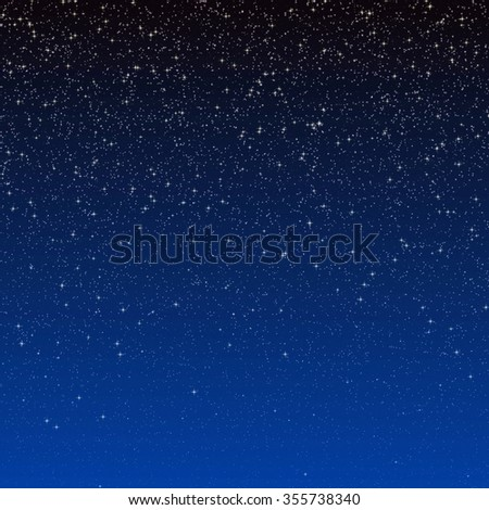 Abstract illustration of starry sky background. - stock photo