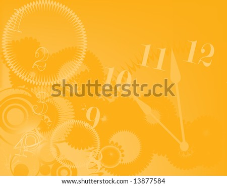 Abstract illustration of time. - stock photo