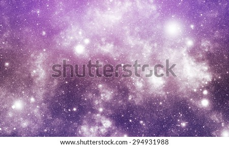 Abstract illustration of universe bodies