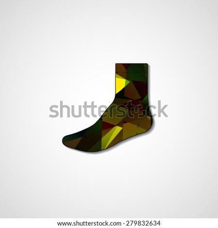 Abstract illustration on sock, template editable. - stock photo