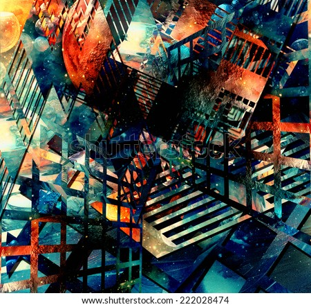 abstract illustration. virtual background - stock photo