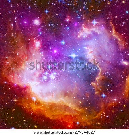 Abstract illustration with a beautiful star space nebula