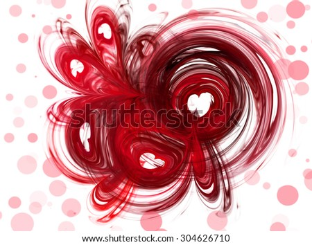 Abstract image hearts. Abstract , love, passion . On a white background with pink bokeh - stock photo