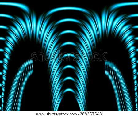 Abstract image of a colorful arch on a black background