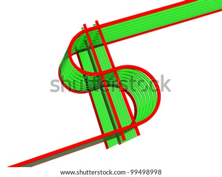 abstract image of a dollar level of the glass