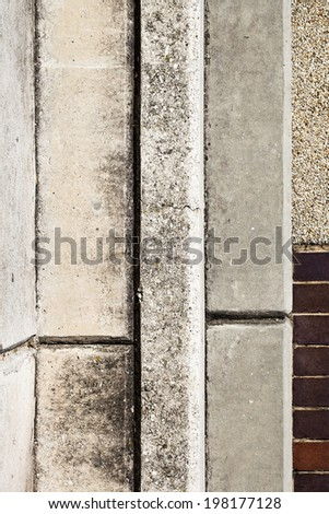 Abstract image of brick, concrete and cement. - stock photo
