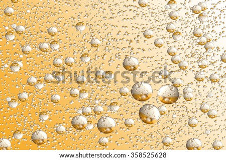Abstract image of bubbles on white background