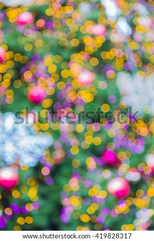 Abstract image of Christmas Lights Bokeh background