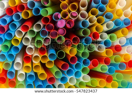 Abstract image of colorful plastic tubes