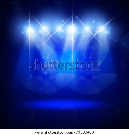 Abstract image of concert lighting against a dark background. Illustration. - stock photo