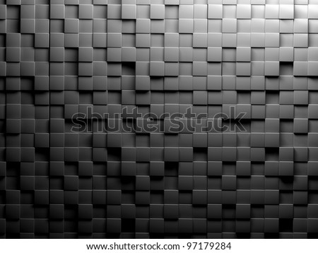 abstract image of cubes background in black and white toned
