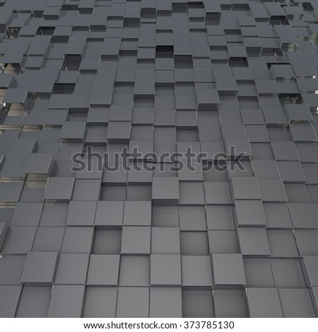 Abstract image of cubes background. Rendered image - stock photo