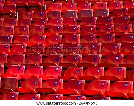 Abstract image of empty seats in a sport arena