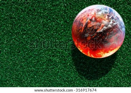 abstract image of  global warming concept ( Elements of this image furnished by NASA) - stock photo