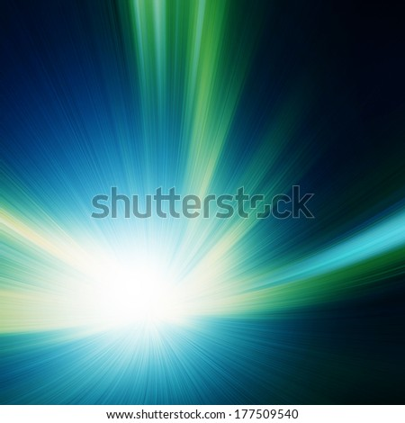 Abstract image of high speed on the road at night. - stock photo
