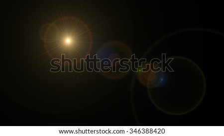 abstract image of lens flare representing the spotlight with special effect - stock photo