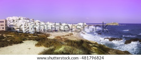Abstract image of Naxos Hora in Greece