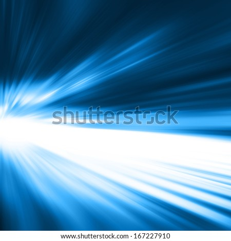 Abstract image of night traffic in motion blur. - stock photo