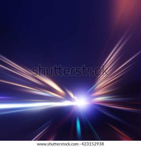 Abstract image of speed motion. - stock photo