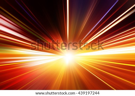 Abstract image of speed motion in tunnel. - stock photo