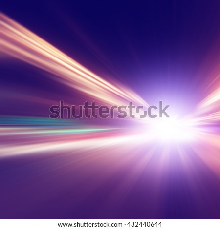Abstract image of speed motion on the night road.