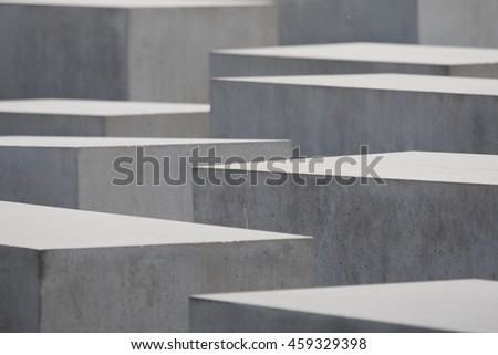 abstract image of the jewish memorial, berlin, germany