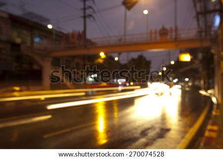 Abstract image of traffic in the city. - stock photo