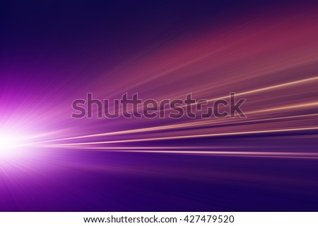 Abstract image of traffic lights in the city.Motion blur. - stock photo