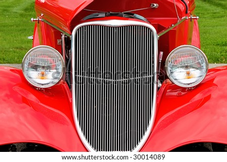 abstract image of vintage car - stock photo