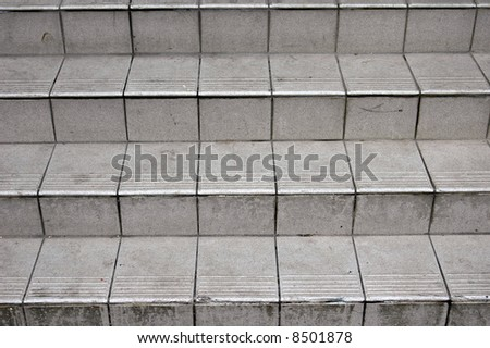 abstract image of weathered steps outside of a building in london - stock photo