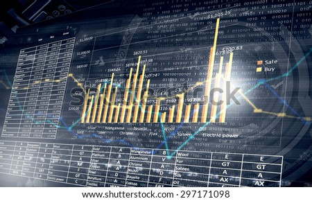 Abstract image with business and marketing concept