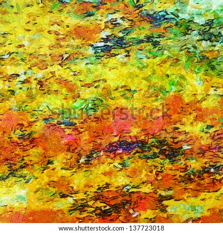 Abstract impressionist-style background with grunge texture.  For vintage layout design, holiday background invitation or web template