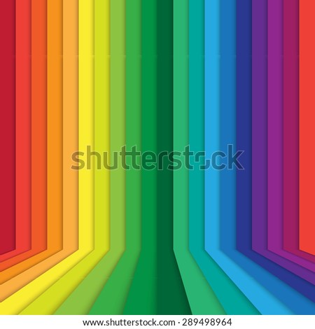 abstract in rainbow perspective background - stock photo