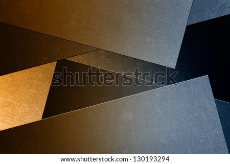 Abstract industrial background - metallic scratched panels, wall - stock photo